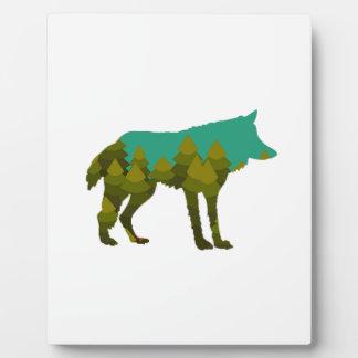 Wolf stroll plaque