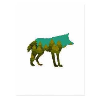 Wolf stroll postcard
