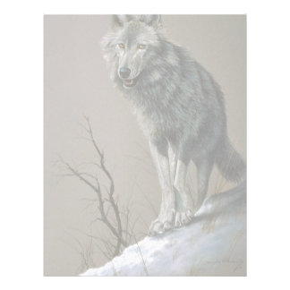 Wolf study personalized letterhead