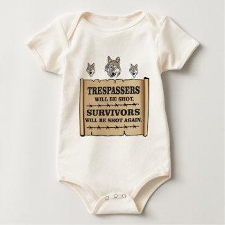 wolf survivor yeah baby bodysuit