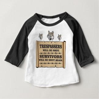 wolf survivor yeah baby T-Shirt