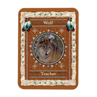 Wolf  -Teacher- Vinyl Flexi Magnet