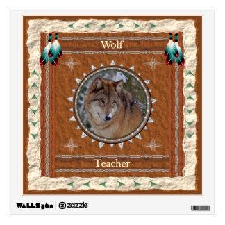 Wolf  -Teacher- Wall Decal