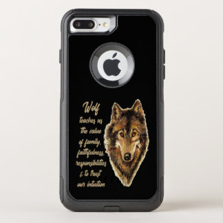 Wolf Totem Animal Spirit Guide for Inspiration OtterBox Commuter iPhone 8 Plus/7 Plus Case