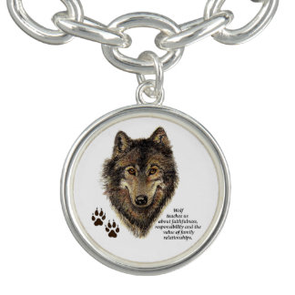 Wolf totem Inspirational Animal Spirit Guide Bracelet