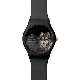 Wolf Totem Spirit Animal Guide watercolor art Watch