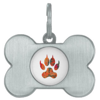 Wolf Track Pet Name Tag