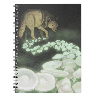 Wolf Trailing Death Mushrooms Notebook