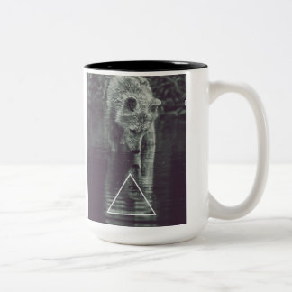 wolf Two-Tone coffee mug