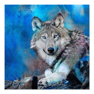 Wolf Watercolor  Art Card