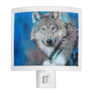 Wolf Watercolor  Art Nite Light