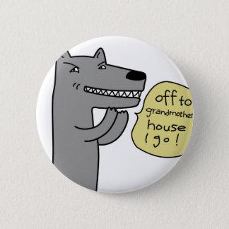 Wolf (white) 2 inch round button