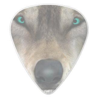 Wolf White Delrin Guitar Pick