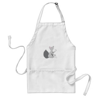 Wolf with snowballs standard apron