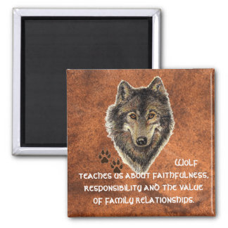 Wolf, Wolves Animal Totem, Nature Guide Magnet