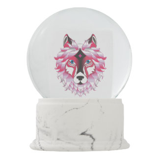 Wolf Wolves Fantasy Snow Globe