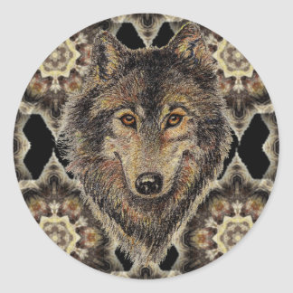Wolf, Wolves, Wild Animal, Nature, Classic Round Sticker