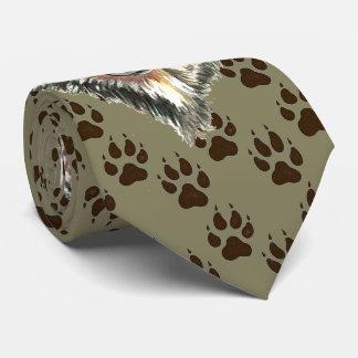 Wolf, Wolves Wild Animal Tracks Footprints Tie