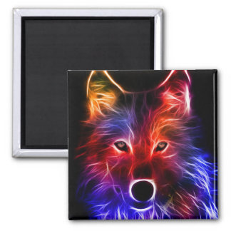 Wolf Wonder Square Magnet