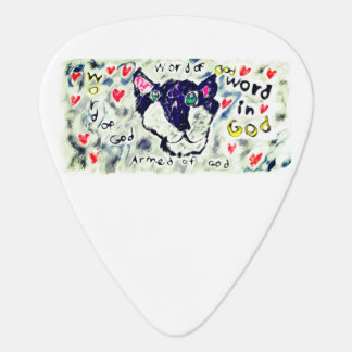 Wolf word of god guitar pick