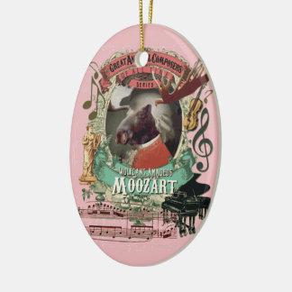 Wolfgang Amadeus Moozart Moose Mozart Spoof Ceramic Ornament