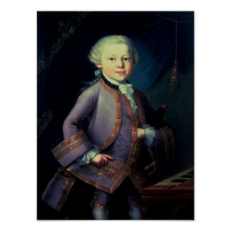 Wolfgang Amadeus Mozart , 1763 Posters