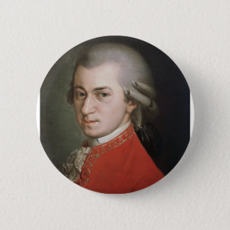 Wolfgang Amadeus Mozart 2 Inch Round Button