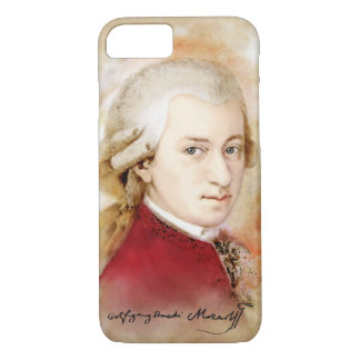 Wolfgang Amadeus Mozart in the water color style iPhone 7 Case