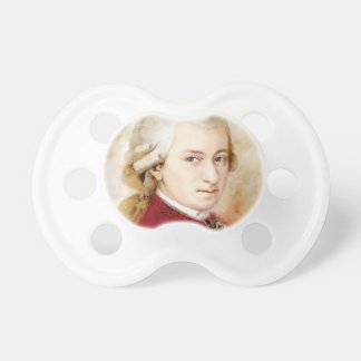 Wolfgang Amadeus Mozart in the water color style Pacifier