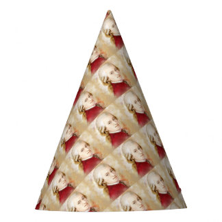 Wolfgang Amadeus Mozart in the water color style Party Hat