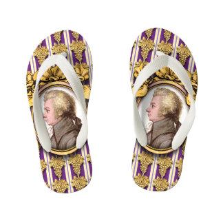Wolfgang Amadeus Mozart Kid's Flip Flops