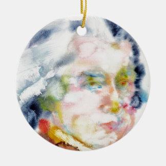 wolfgang amadeus mozart portrait ceramic ornament