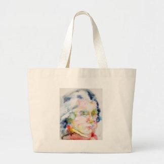 wolfgang amadeus mozart portrait large tote bag