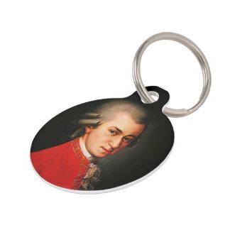 Wolfgang Amadeus Mozart portrait Pet Tag