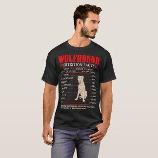 Wolfhound Nutrition Facts Stubbornness Mischief T-Shirt