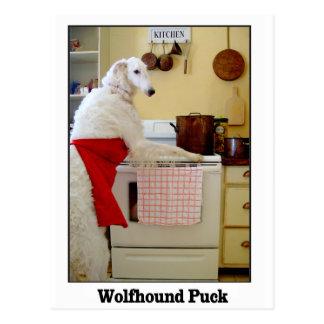 Wolfhound Puck Postcard