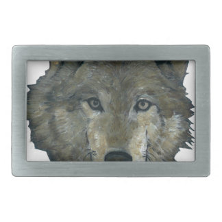 Wolfie Rectangular Belt Buckle