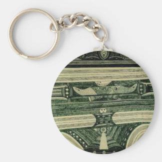 Wölfli 'Petrol' Fine Art Basic Round Button Keychain