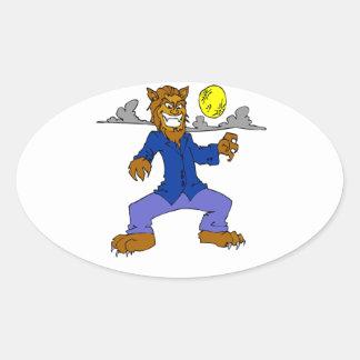 Wolfman Oval Sticker