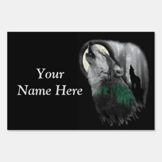 Wolf's Song- customizable yard sign