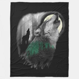 Wolf's Song Fleece Blanket