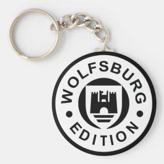 Wolfsburg Edition (black) Basic Round Button Keychain