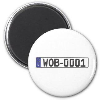 Wolfsburg License Plate Magnet