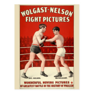 Wolgast-Nelson Fight Pictures - Restored Poster Postcard