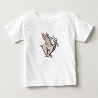 Wolpertinger Running Side Tattoo Baby T-Shirt