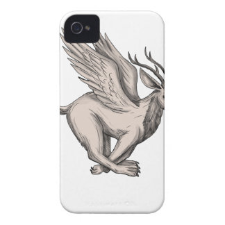 Wolpertinger Running Side Tattoo Case-Mate iPhone 4 Cases