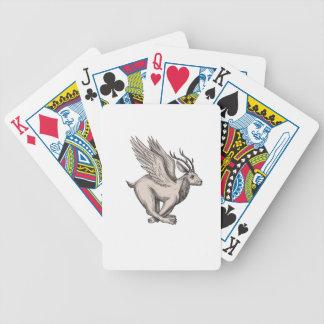 Wolpertinger Running Side Tattoo Poker Deck