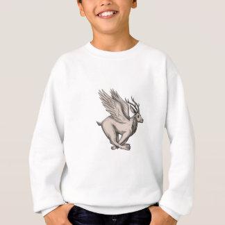 Wolpertinger Running Side Tattoo Sweatshirt