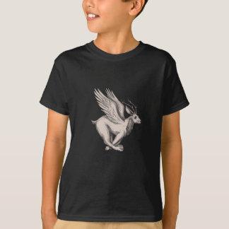 Wolpertinger Running Side Tattoo T-Shirt