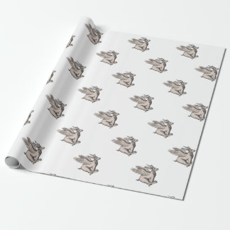 Wolpertinger Running Side Tattoo Wrapping Paper